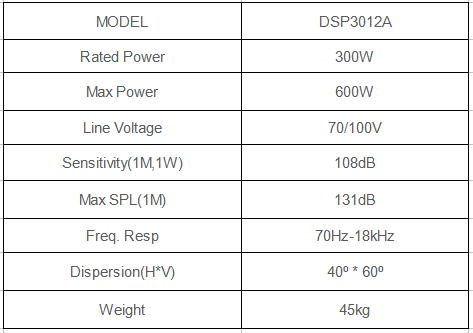 mosque speaker specification