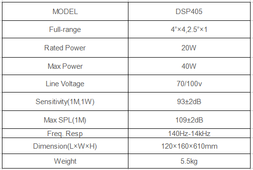 phased array speaker specification